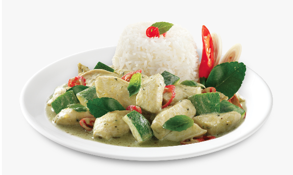 Tops Foods premium inflight Asian meals, Chicken Green Curry