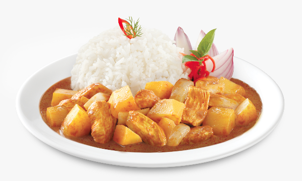 Tops Foods premium inflight Asian meals, Chicken Massaman Curry