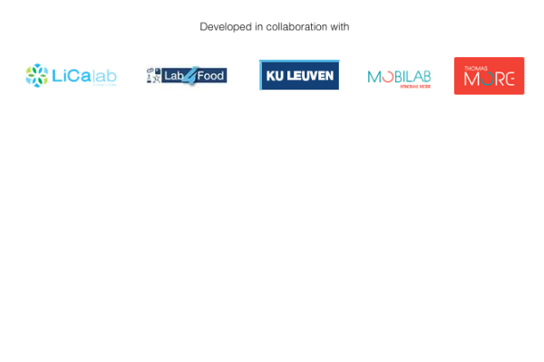 Developed in collaboration with LiCalab, LabFood, KU Leuven, Mobilab, Thomas More