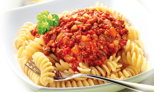 Tops Foods shelf stable meals Fusili Bolognese