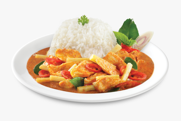 Tops Foods premium inflight Asian meals, Chicken Yellow Curry