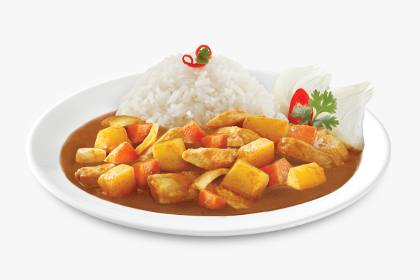 Tops Foods premium inflight Asian meals, Chicken Red Curry